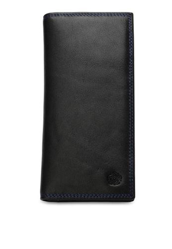 Wild Channel black Men's Genuine Leather RFID Blocking Long Wallet 04540ACE6D381CGS_1