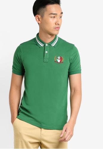 MILANO green Short Sleeve Polo Shirt MI248AA93LGSMY_1