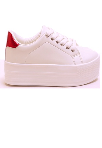 Crystal Korea Fashion 白色 韓國製新款百搭厚底休閒鞋 2CE72SH1FF4926GS_1