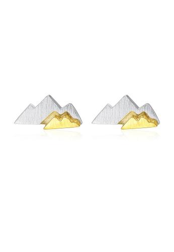 SUNRAIS silver High quality Silver S925 silver simple design earrings 4CBB9AC1C68F01GS_1
