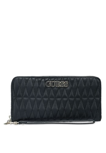 Guess black Brinkley Slg Large Zip Around Wallet FE9EDAC9E1BBC4GS_1