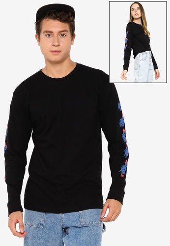 OBEY black Passion Long Sleeves Tee F28F7AA6FACC58GS_1