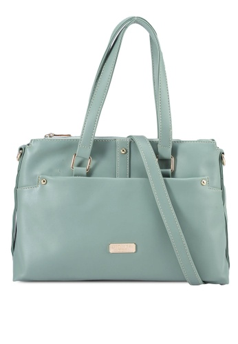 Unisa green Faux Leather Convertible Shoulder Bag 97F86AC5411955GS_1