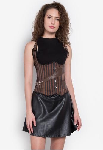 30458f07f48 Shop Kats Clothing Stripe Under Bust Corset Online on ZALORA Philippines