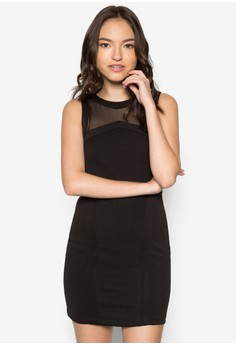 Contrast Binding Bodycon Dress