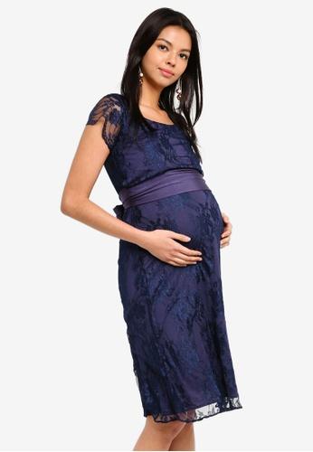 Tiffany Rose 海軍藍色 孕婦裝 April 哺乳洋裝 CE79CAA451E9F4GS_1