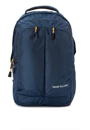 World Traveller blue Los Angeles Backpacks WO744AC0K4CFPH_1