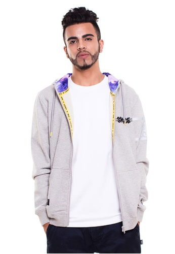 Reoparudo grey RPD Space Graphic Edition Zip Hoodie (Grey) RE413AA0GZKQSG_1