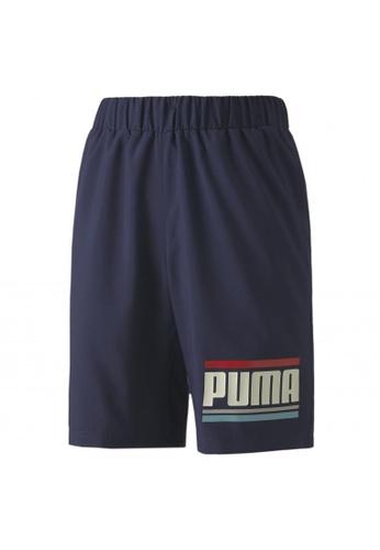 PUMA black CELEBRATION Boys Woven Shorts 71838KABCEFDC4GS_1