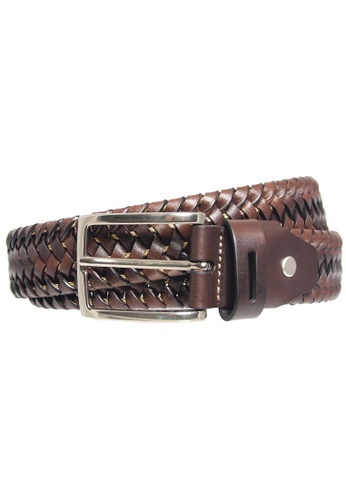 72 SMALLDIVE black 72 Smalldive Mens 34 mm Width Elastic Weave Leather Belt Brown 873CBACD8ABFD3GS_1