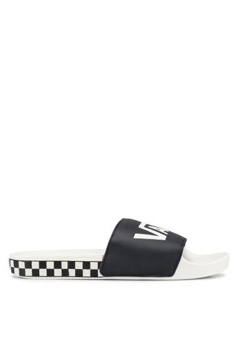 VANS black and white VANS Sliders 8813ESH3BB4C51GS_1