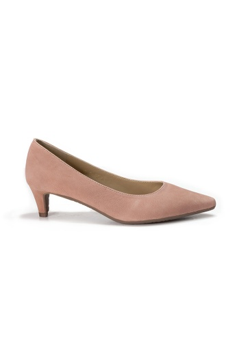 Shu Talk 粉紅色 LecccaLecca 簡約高雅尖頭軟皮低跟鞋 7D503SHCF276E5GS_1