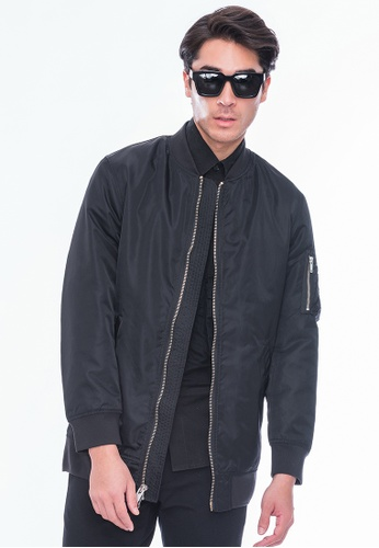 Alpha Style black Alik Zip-up Long Bomber AL461AA0GMCBSG_1