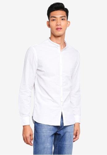 MANGO Man 白色 修身襯衫 22CF5AAD1B27E7GS_1