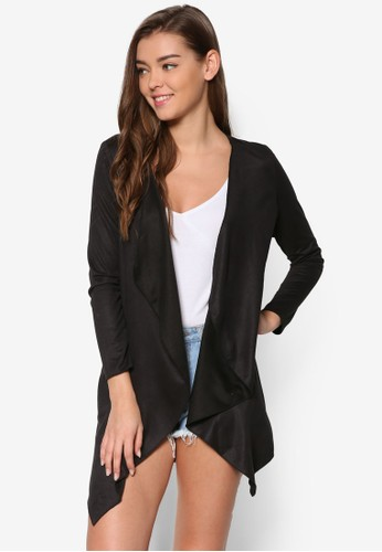 Loveesprit 見工 流水式麂皮外套, 服飾, 毛衣& 針織外套