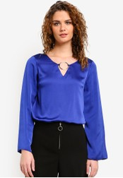Dorothy Perkins blue Cobalt Hoop Top DO816AA0RMY1MY_1