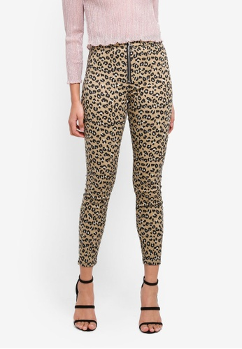 TOPSHOP brown Moto Leopard Joni Jeans A146AAA33784A0GS_1
