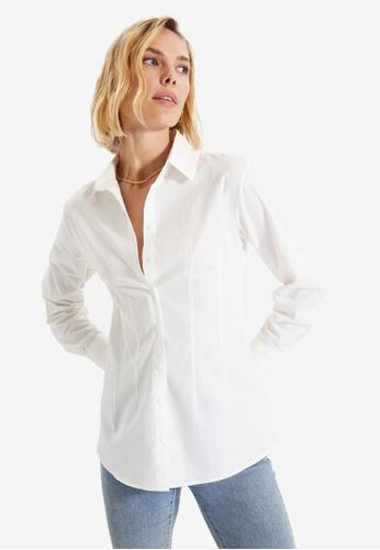 Trendyol white Ecru Shirt DFF22AA2EC1449GS_1