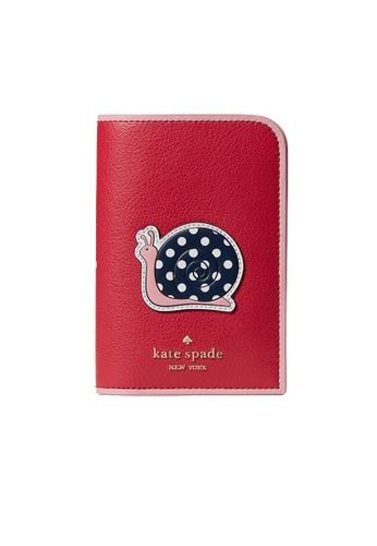 Kate Spade red Kate Spade Enchanted Forest Snail Passport Holder WLRU6362 D9864AC413467DGS_1