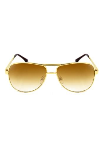 Maldives Eyewear brown and gold 6807-G Kate Moss Classic Aviator Fad Sunglasses 6807-G MA573GL69XIKPH_1