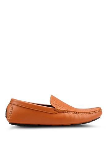 Rocklander brown Rocklander Woven Loafers 64CD9SHC454025GS_1