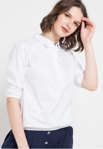 Le'Rosetz white Elastick Hip White Shirt 9B98CAA1282F63GS_1