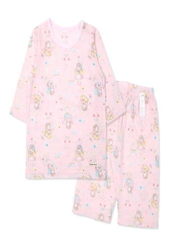 Organic mom pink Organic Cotton Zoey Angel  3/4 Sleeves Pjs 9BA35KA3D4D66FGS_1