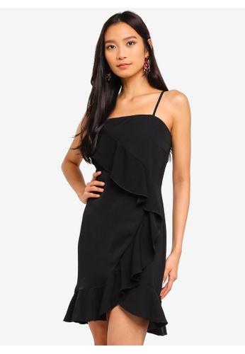 Preen & Proper black Waterfall Ruffle Dress 78EE9AA4E8B032GS_1