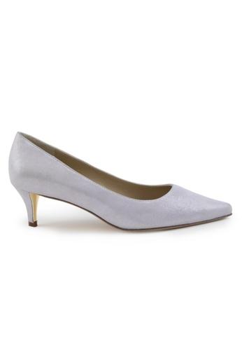 Shu Talk purple Metallic Sheepskin Suede Pointed Toe Low Heels SH617SH2VRVQHK_1