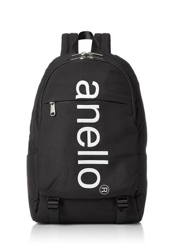 Anello black ANERO Logo Printed Backpack-AH-B2481-BK BLACK 0EEBAACCA79902GS_1