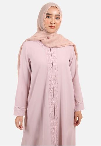 Jual Queensland Dress Gamis Payet B10084q Pink Original Zalora Indonesia