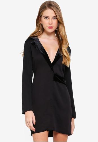 9976097282 Shop MISSGUIDED Satin Blazer Dress Online on ZALORA Philippines