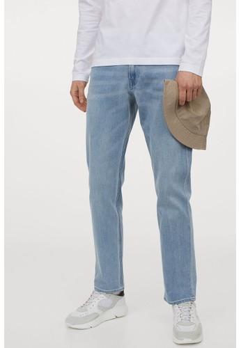 H&M blue Xfit Regular Jeans 27C9AAA5821E0BGS_1