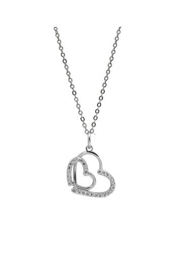 LYCKA silver LDR1254 S925 Silver Romantic Hearts Necklace 172E8ACCCFAB7DGS_1