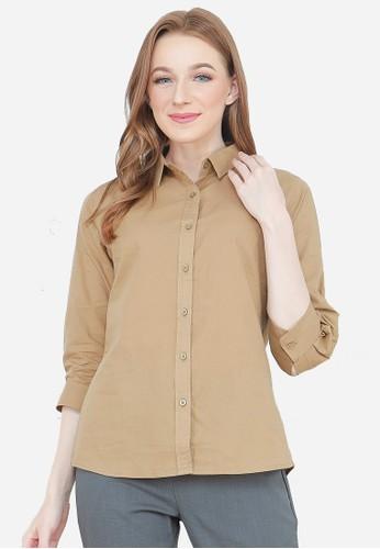 Urban Exchange brown Urban Exchange Zaylie Brown Shirt DCF5EAACE872DFGS_1