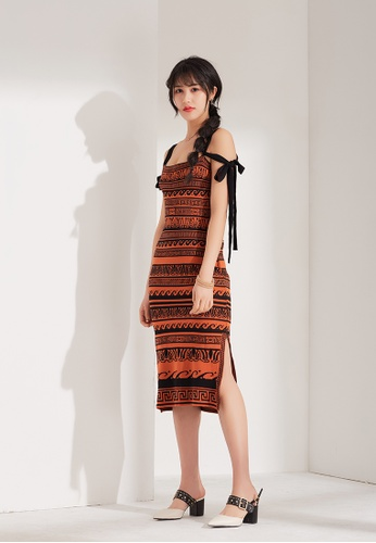 Zafiti multi Off-shoulder Printed Dress 1D231AAB41CE6AGS_1