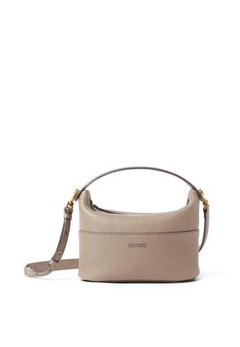 RABEANCO grey and beige RABEANCO NINA Shoulder Bag - Almond Grey 43500AC4246473GS_1