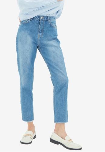 Trendyol blue High Waist Mom Jeans FDDB3AA3B26ECBGS_1