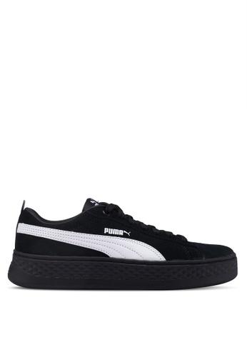 Puma black Sportstyle Core Smash Platform SD Shoes 6074CSH8214E4BGS_1