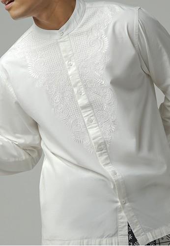 ZOYA white Rajhi Kaftan Menswear ZOYA EBA4AAA4E16410GS_1