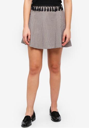 ONLY white Rosaria Rosie Skater Skirt 9DDFCAADD690F7GS_1