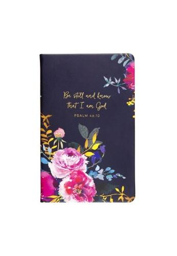 Klosh Christian Journal - Be Still Floral Navy 7D011HL93135A0GS_1