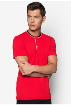 CN - Henley Style With Gold Trim Tee