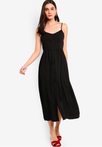 ZALORA black Self Tie Strap Button Down Midi Dress 3D4FAAAEE29052GS_1