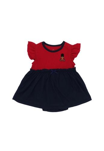 Baby Lovett red London Bear Romper Dress 77568KA791D558GS_1