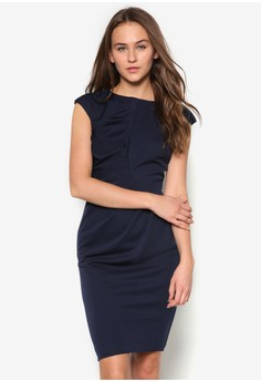 Ruched Waisted Dress
