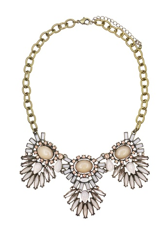 LUCCACAL pink Flyna Statement necklace LU294AC98PRXMY_1