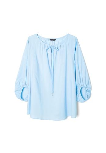 MS. READ blue MS. READ Peasant Top (LIGHT BLUE) C5248AA376B8EFGS_1