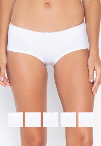 DEBENHAMS white 5pp Cotton Lycra Short 0CDF3US6EC540BGS_1