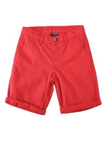 LC Waikiki red Boy's Cotton Chino Roller Shorts 74017KA399BC64GS_1